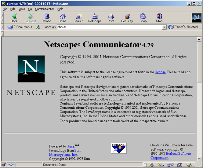 Netscape Communicator Screenshot