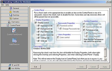Tweaking Toolbox for Windows Screenshot