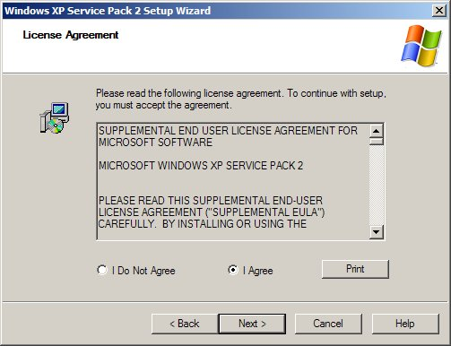 Windows XP Service Pack 2 Screenshot