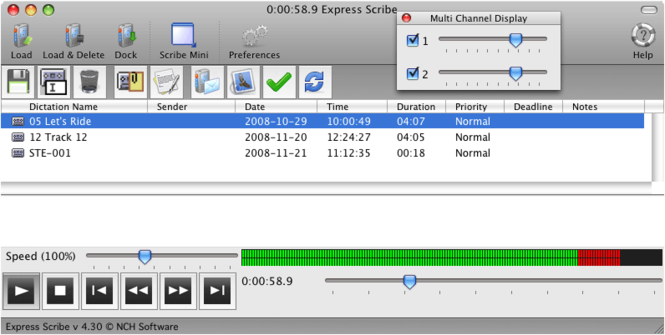 Express Scribe Transcription for Mac Screenshot