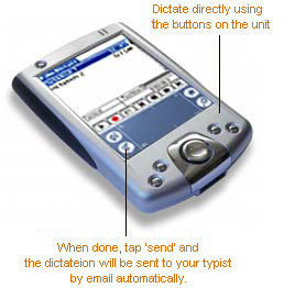 Palm Dictate Dictation Recorder Screenshot