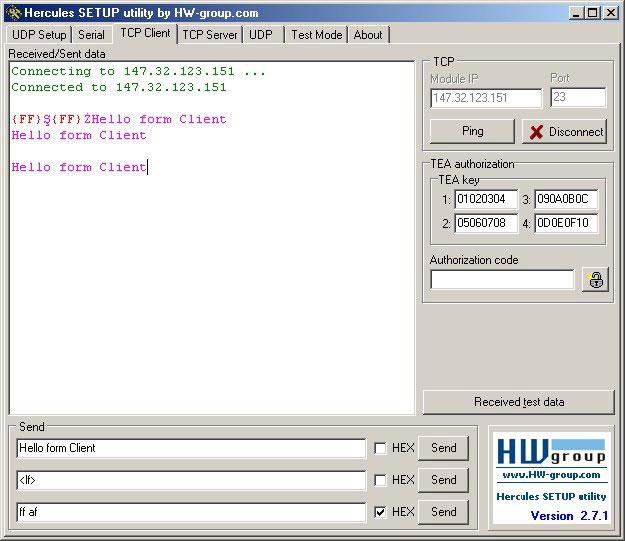 Hercules Setup Utility Screenshot