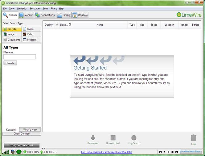 LimeWire Basic Screenshot