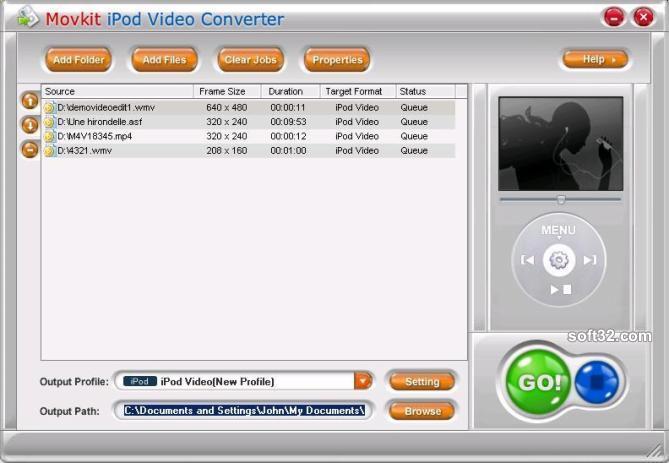 Видео Конвертер Movkit PSP - это мощный конвертер, поддерживающий преобразо