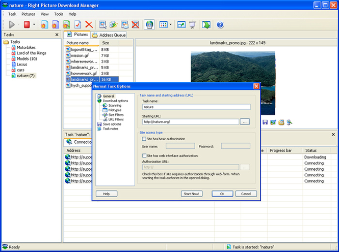 Right Picture Download Manager Screenshot