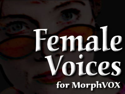 Female Voices - MorphVOX Add-on Screenshot