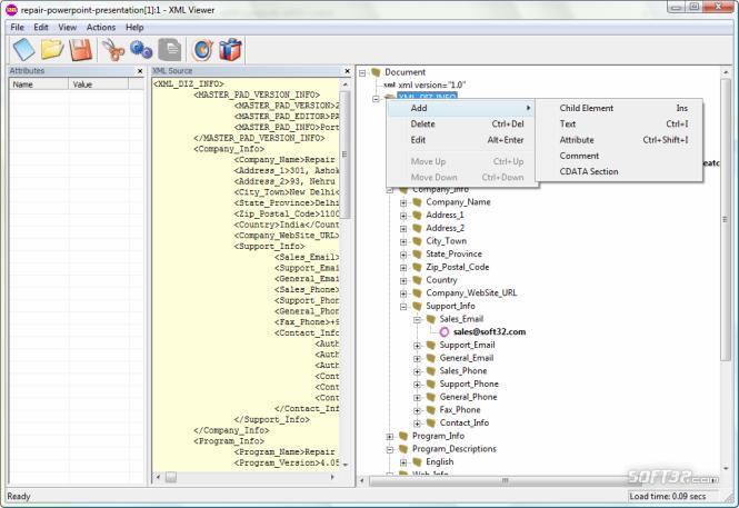 XML Viewer Screenshot