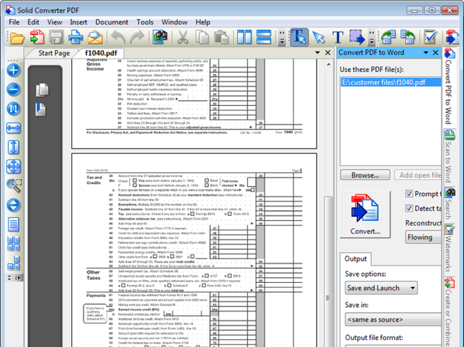 Solid Converter PDF Screenshot
