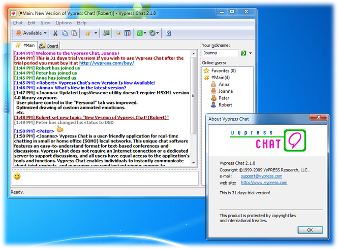Vypress Chat Screenshot