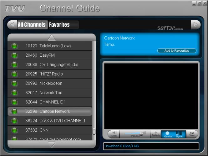 TVU Player Screenshot