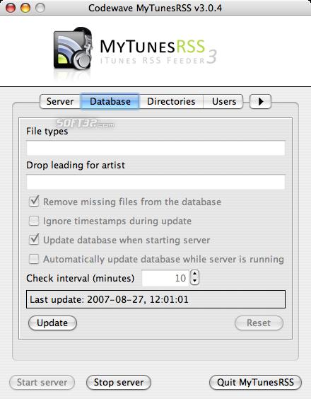 MyTunesRSS Screenshot 8