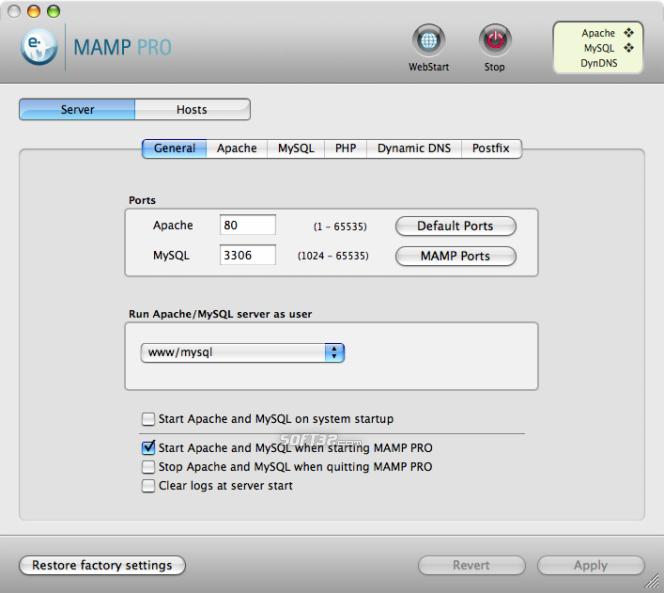 Скачать MAMP Pro 1.9 (английский) (2010) for Mac OSX + Серийный Ключ&