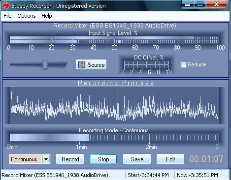 Steady Recorder Screenshot