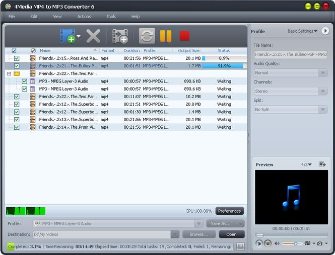 Обсуждение программы 4Media MP4 to MP3 Converter - SoftBuka.