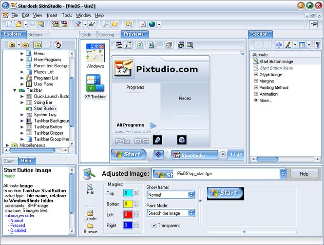 Поддерживается работа со стилями, созданными для WindowBlinds, WebBlinds, O