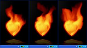 Fire Heart Desktop Gadget Screenshot