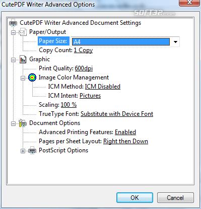 Cute PDF Writer Screenshot
