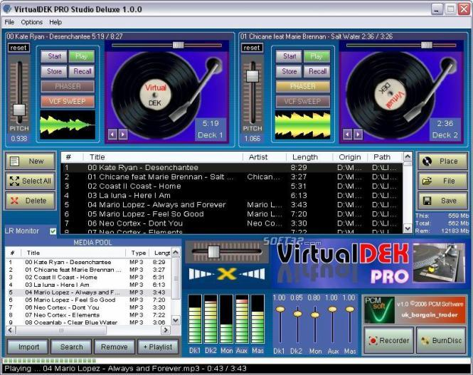 Download Virtual Deck Dj Mixing Suite 1 00