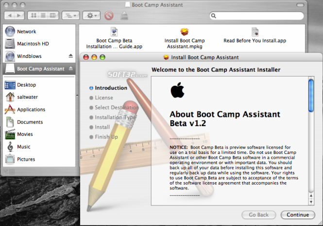 Apple Boot Camp Screenshot