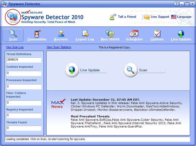 Скачать Spyware Detector бесплатно 9.09Mb.