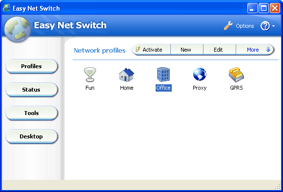 Easy Net Switch Screenshot