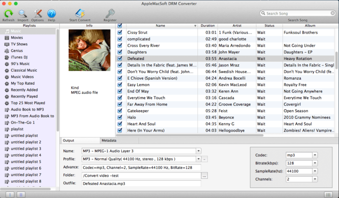 DRM Converter for Mac Screenshot