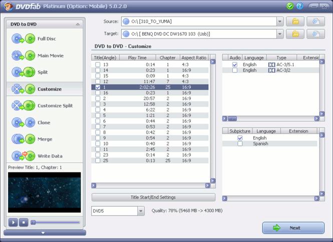 DVDFab Platinum Screenshot