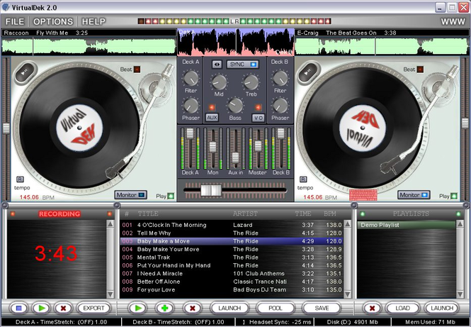VIRTUAL DJ PROPHET - TURNTABLE STUDIO Screenshot