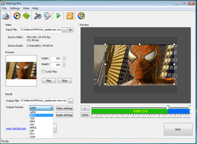 VidCrop PRO Screenshot