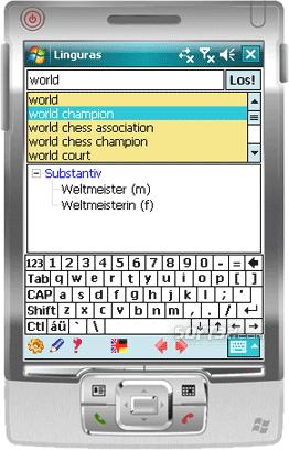 Linguras Professional Dictionary: En-Ge Screenshot