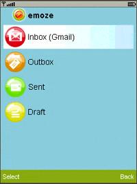 emoze Java application Screenshot