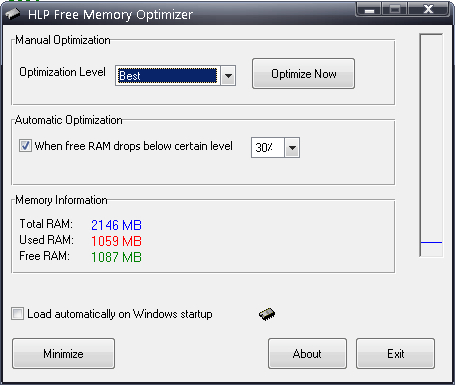 HLP Free Memory Optimizer Screenshot