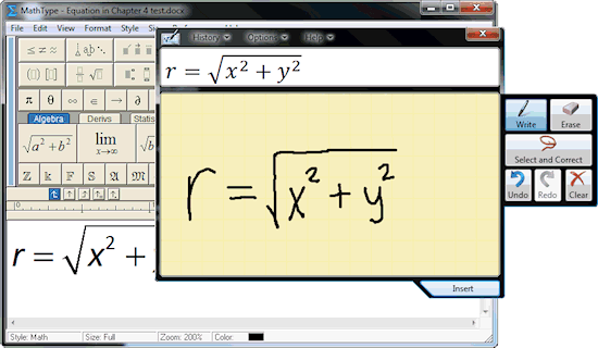 MathType Screenshot
