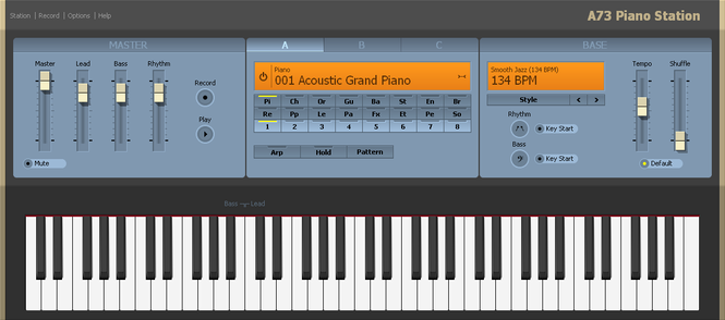 A73 Piano Station Screenshot