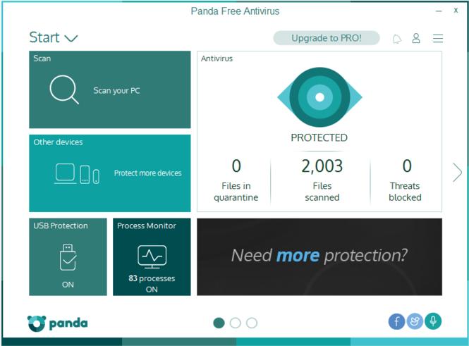 Panda Free Antivirus Screenshot