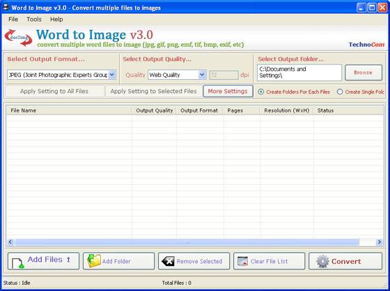 Word To Image Converter Screenshot