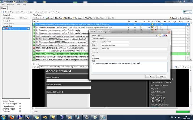 Seo Blog Submitter Screenshot