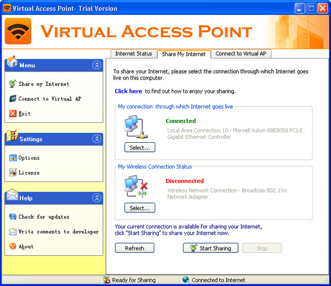 Virtual Access Point Screenshot