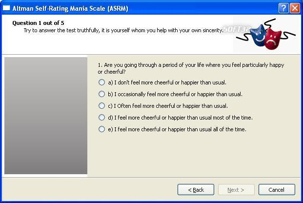 Altman Self Rating Mania Scale Screenshot