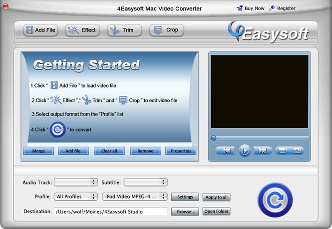 4Easysoft Mac Video Converter Screenshot