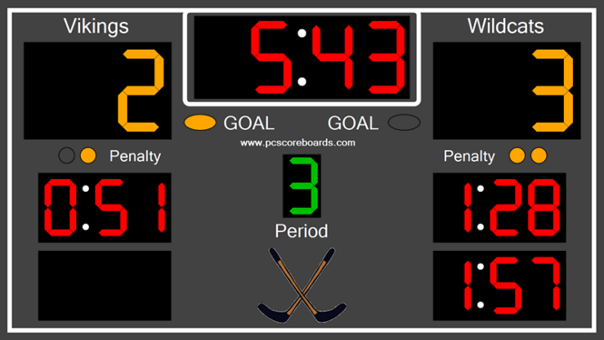 Hockey Scoreboard Standard Screenshot