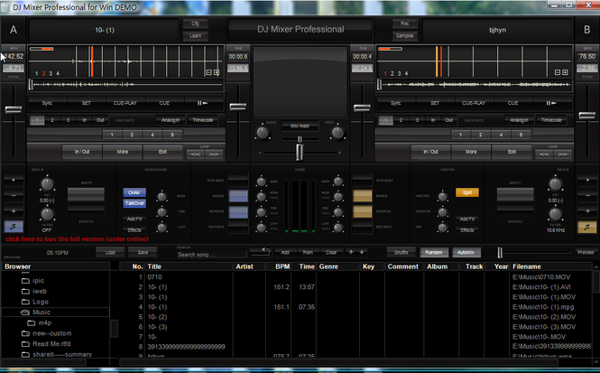 DJ Mixer 3 Pro for Windows Screenshot