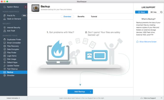 MacKeeper Screenshot 2