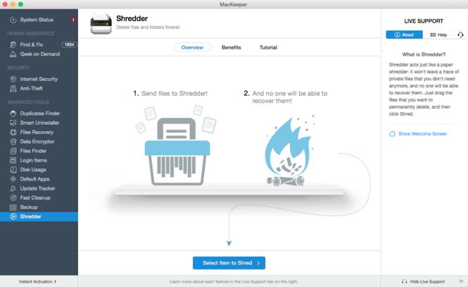 MacKeeper Screenshot 16