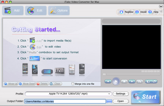 iTake Video Converter for Mac Screenshot