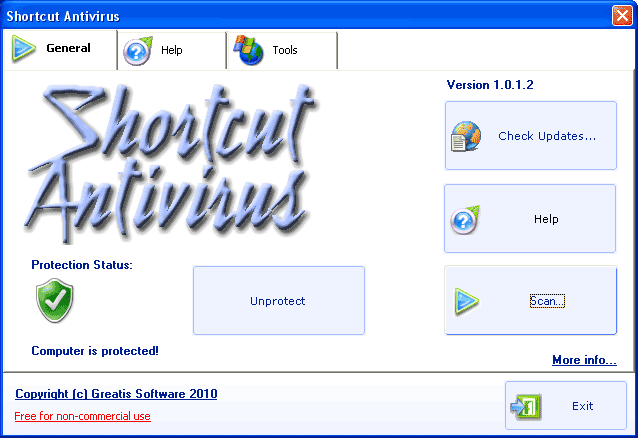 Shortcut Antivirus Screenshot