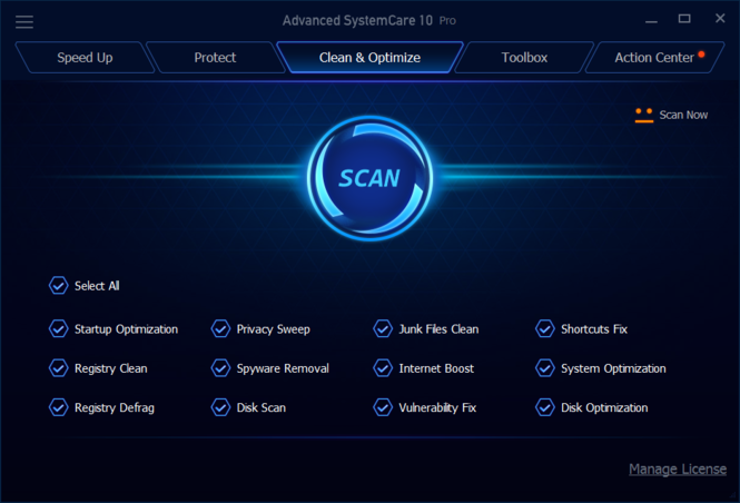 Advanced SystemCare Pro Screenshot
