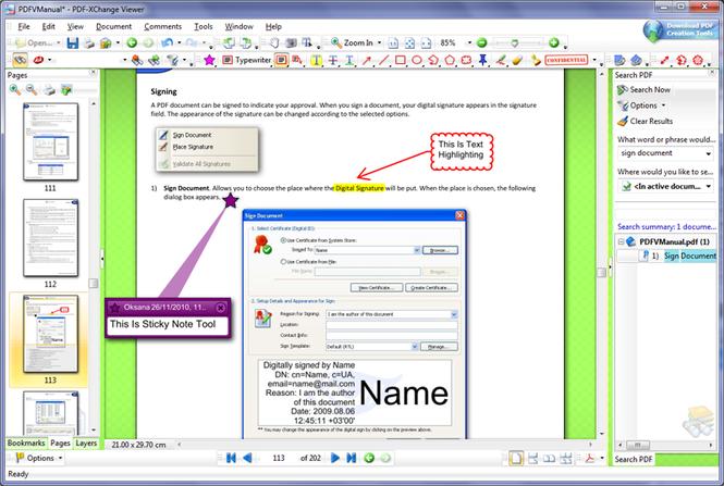 PDF-XChange Viewer Screenshot