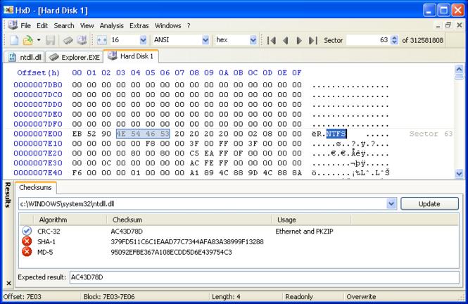 HxD Hex Editor Screenshot