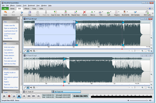 التلاعب WavePad Sound Editor Master Edition 5.55,بوابة 2013 main.png